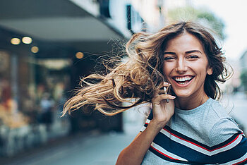 Woman windy hair Illustration